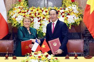 Việt Nam và Chile hợp tác thúc đẩy hệ thống thương mại thế giới rộng mở