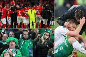 CĐV và cầu thủ Bắc Ireland khóc như mưa khi lỡ cơ hội dự World Cup 2018