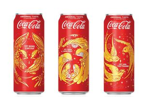 Coca-Cola ra mắt 3 mẫu bao bì độc đáo dịp Tết 2018