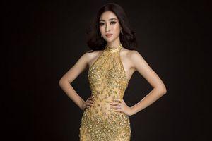 Đầm dạ hội ánh hoàng kim sẽ giúp Đỗ Mỹ Linh tỏa sáng như 'Nữ hoàng' ở chung kết Miss World 2017