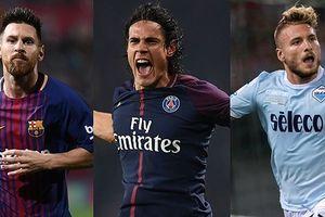 Cuộc đua 'Chiếc giày vàng' châu Âu: Messi kém xa Cavani và Immobile