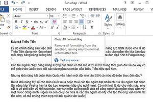 6 thủ thuật đơn giản khi xử lý tài liệu Word