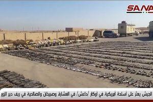 Bí mật kinh hoàng trong kho vũ khí khổng lồ 'hổ Syria' thu được của IS tại Deir ez-Zor