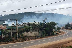 Mịt mù khói bụi từ lò sấy cà phê ở Đắk Nông