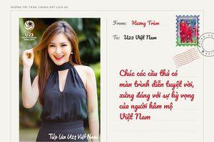 Hương Tràm, Soobin Hoàng Sơn gửi thiệp chúc U23 Việt Nam