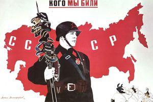 Sục sôi loạt tranh cổ động về Hồng quân đối đầu phát xít và Bạch vệ