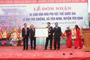 Hà Nội, Thanh Hóa cùng đón bằng công nhận Di sản văn hóa phi vật thế Quốc gia
