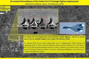 Vệ tinh Israel chụp được chiến đấu cơ thế hệ thứ 5 của Nga ở Syria?