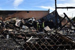 Lâm Đồng: Hỏa hoạn thiêu rụi một xưởng chế biến gỗ