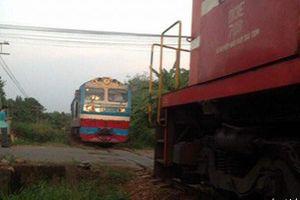 Hai tàu hỏa suýt tông nhau ở Đồng Nai