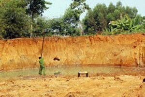 2 trẻ em chết đuối dưới hầm khai thác đất trái phép