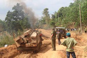 Bắt giữ một vụ vận chuyển gỗ quy mô lớn ở Đắk Lắk