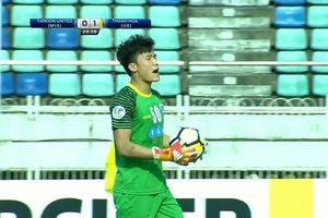 Thủ môn Bùi Tiến Dũng xin lỗi sau trận thua của Thanh Hóa ở AFC Cup