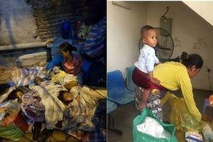 Người mẹ mang 4 con nhỏ đi gần 1000 cây số ra Hà Nội xin quần áo ấm cho con