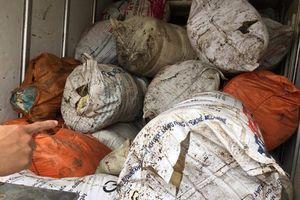Phát hiện xe tải chở gần 1 tấn mỡ động vật bốc mùi hôi thối