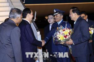 Chủ tịch nước Trần Đại Quang bắt đầu chuyến thăm cấp Nhà nước tới Cộng hòa Ấn Độ