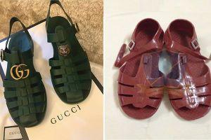 Mẫu sandal mới của Gucci giống hệt dép 'rọ' của Việt Nam giá tận 11 triệu đồng
