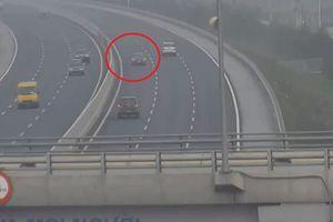 Đi ngược chiều trên cao tốc HN-HP, nữ tài xế bị phạt 7,5 triệu đồng