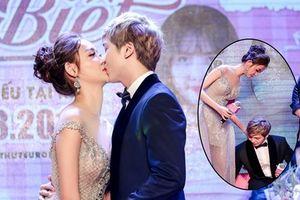 Trương Mỹ Nhân công khai hôn Kent Phạm trong ngày ra mắt phim