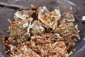 Bánh tráng cá cơm - đặc sản sông nước vùng biên