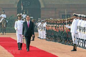 21 loạt đại bác chào mừng Chủ tịch nước thăm cấp Nhà nước CH Ấn Độ
