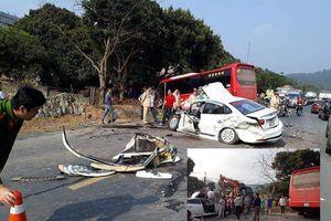 Tai nạn kinh hoàng giữa ô tô con và xe khách trên Quốc lộ 6