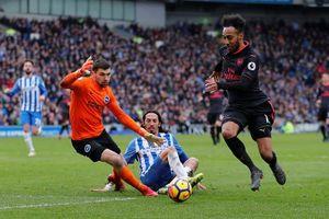 Brighton 2-1 Arsenal: 'Pháo thủ' kém 13 điểm so với top 4