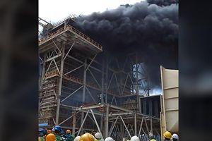 Clip:Cháy lớn tại nhà máy nhiệt điện Duyên Hải Trà Vinh