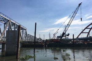 Tháng 9 tàu sẽ được chạy trên cầu Bình Lợi mới