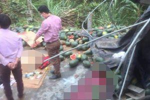 Tuyên Quang: Xe chở dưa hấu gặp nạn, phụ xe tử vong