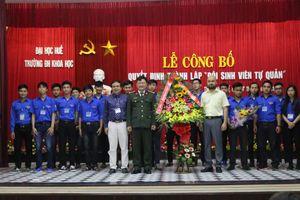 Thành lập 'đội sinh viên tự quản' trường ĐHKH Huế