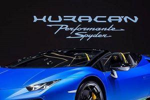 Siêu phẩm mui trần Lamborghini Huracan Performante Spyder vén màn lộ diện