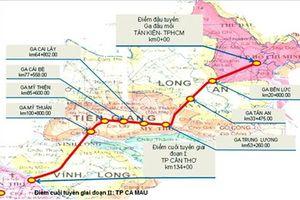 Đề xuất đầu tư 5 tỉ USD xây đường sắt cao tốc TPHCM - Cần Thơ