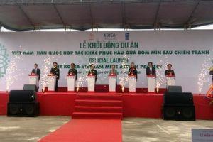 Hàn Quốc tài trợ 20 triệu USD cho Việt Nam khắc phục hậu quả bom mìn
