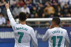 Ronaldo lập cú đúp, Real thắng sít sao Elibar