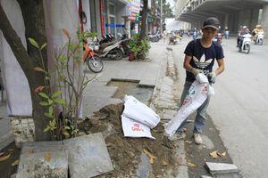 Hà Nội chuẩn bị lát vỉa hè hồ Gươm bằng đá granite