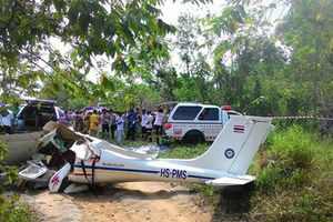 Rơi máy bay ở Thái Lan, 2 người thiệt mạng