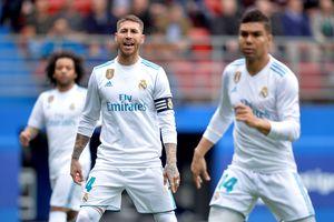 Sergio Ramos đột ngột 'biến mất' ngay giữa trận Real Madrid thắng Eibar