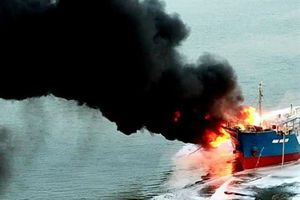 Thông tin chính thức về vụ cháy tàu Hải Hà 18 ở cảng Đình Vũ