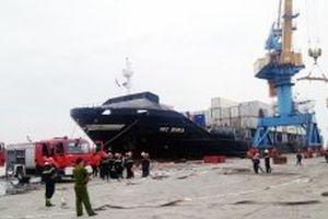 Đã khắc phục xong sự cố cháy nổ tàu chở xăng dầu tại Hải Phòng