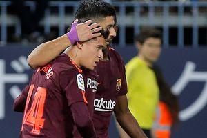 Vắng Messi, Barca bay trên đôi cánh của Suarez và Coutinho