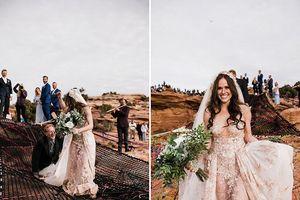 Lãng mạn đám cưới tổ chức giữa không trung