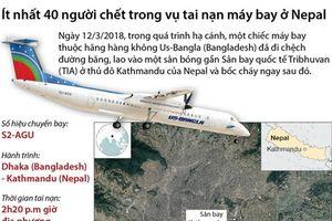 Ít nhất 40 người chết trong vụ tai nạn máy bay ở Nepal