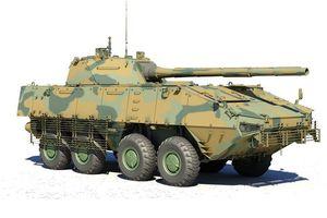 Hé lộ loại xe tăng bánh lốp mới của quân đội Nga