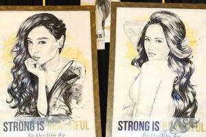 Độc đáo những bức tranh tôn vinh phụ nữ Việt Nam được vẽ từ tóc