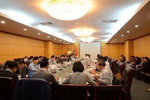 Họp Tổ soạn thảo Quy trình vận hành liên hồ chứa trên lưu vực sông Trà Khúc