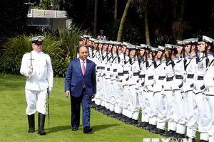 Lễ đón Thủ tướng Nguyễn Xuân Phúc thăm chính thức New Zealand