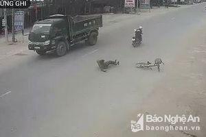 'Vô tư' khi sang đường, cụ ông ở Nghệ An thoát chết hi hữu