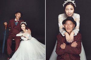 Cô gái độc thân đi chụp ảnh cưới với ông nội vì lý do bất ngờ