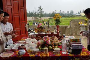 Quảng Bình: Nhiều gia đình cúng vọng 64 liệt sĩ hy sinh ở đảo Gạc Ma